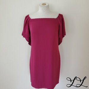 NWOT Trina Turk Dress Pink Purple Flare Sleeve